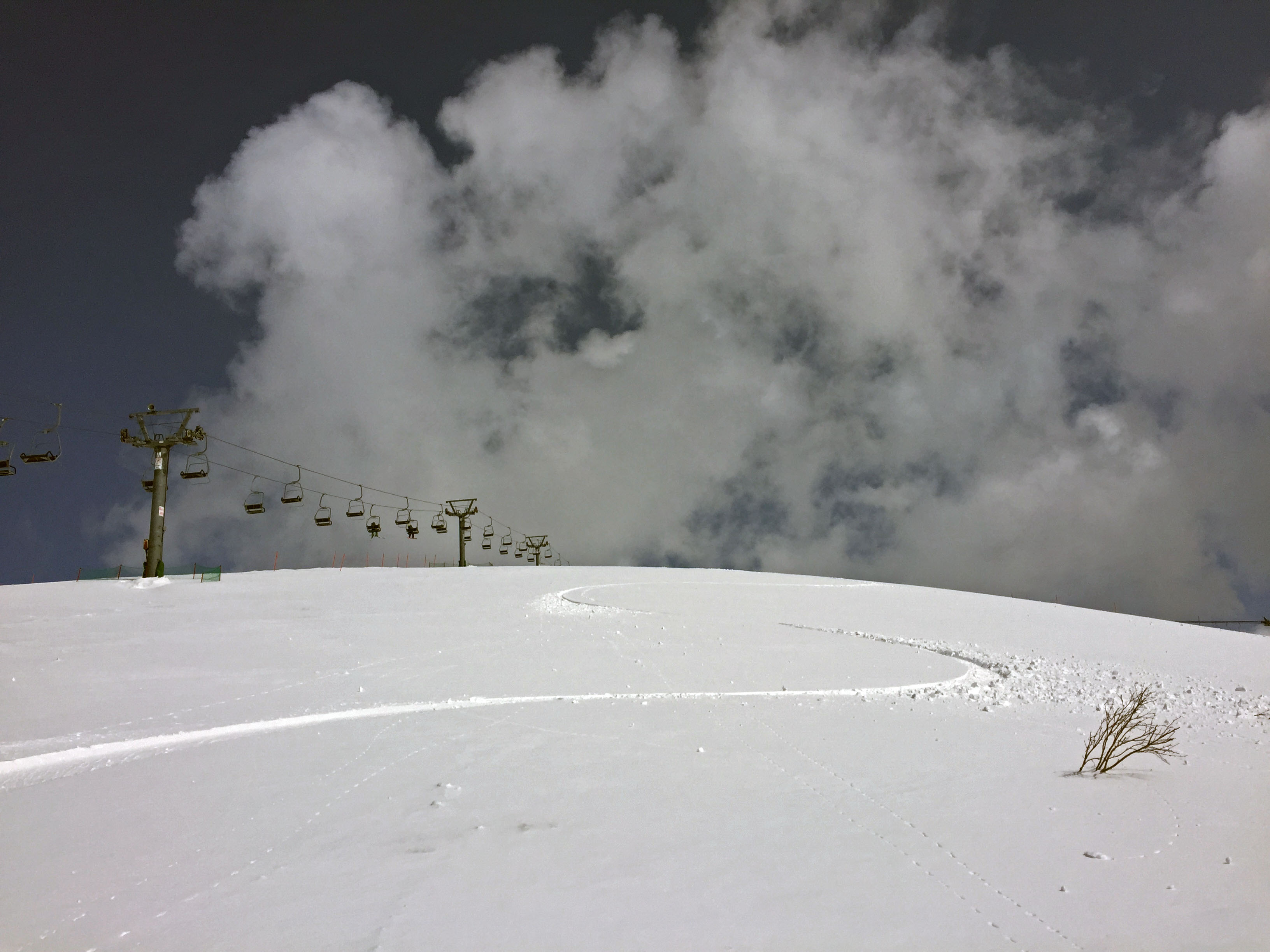 spring snowfall on niseko annupuri ski resort