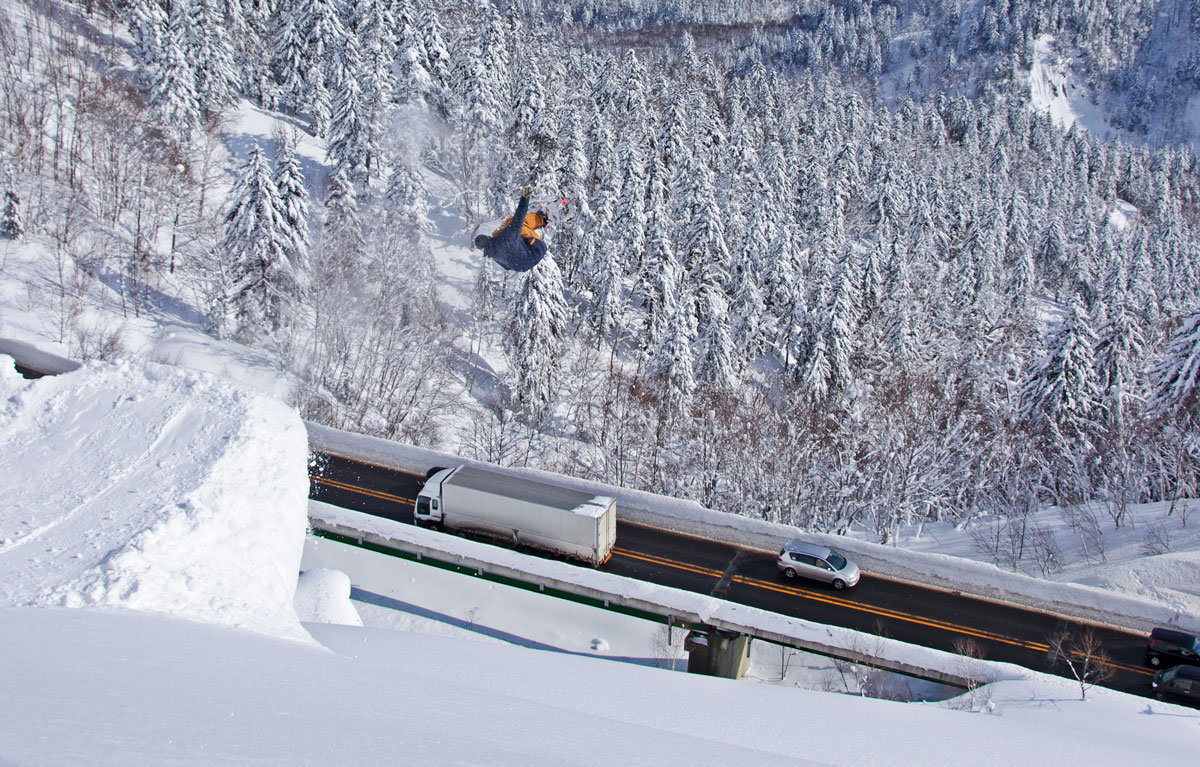 nakayama toge snowboarding avalance barriers
