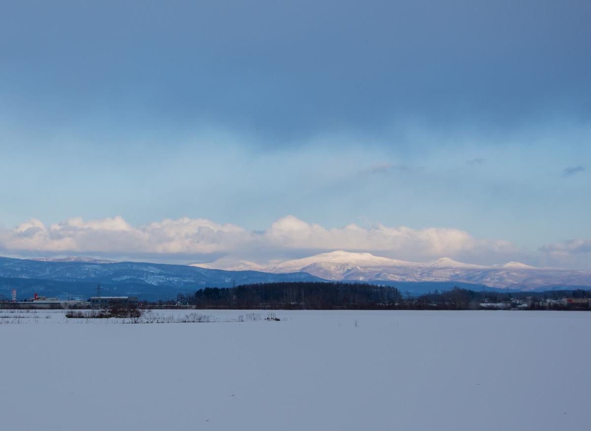 Hokkaido Mt. Nakadake mt. Muine mt. Nagaoyama from Kutchan