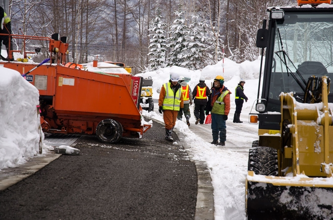 road works in annupuri niseko