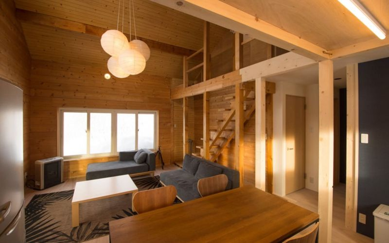 Living Dining area in the ski chalet