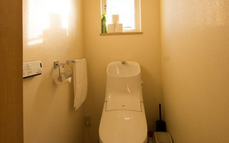 modern toilet with washlet in Japan