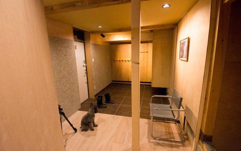 heated tiled floor in ski room in niseko chalet