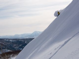 will jackways shreding a face in the niseko backcountry