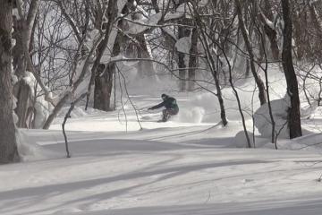 kouji hamada increw vimeo snowboarding in the trees